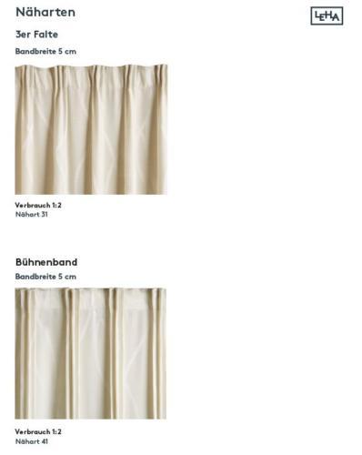 Leha Vorhang 3-er Falte
