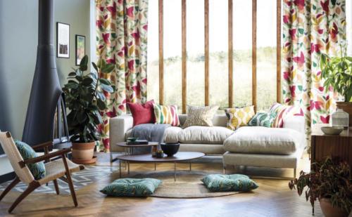 Vorhangstoffe, Vorhangstoffe und Möbelstoffe